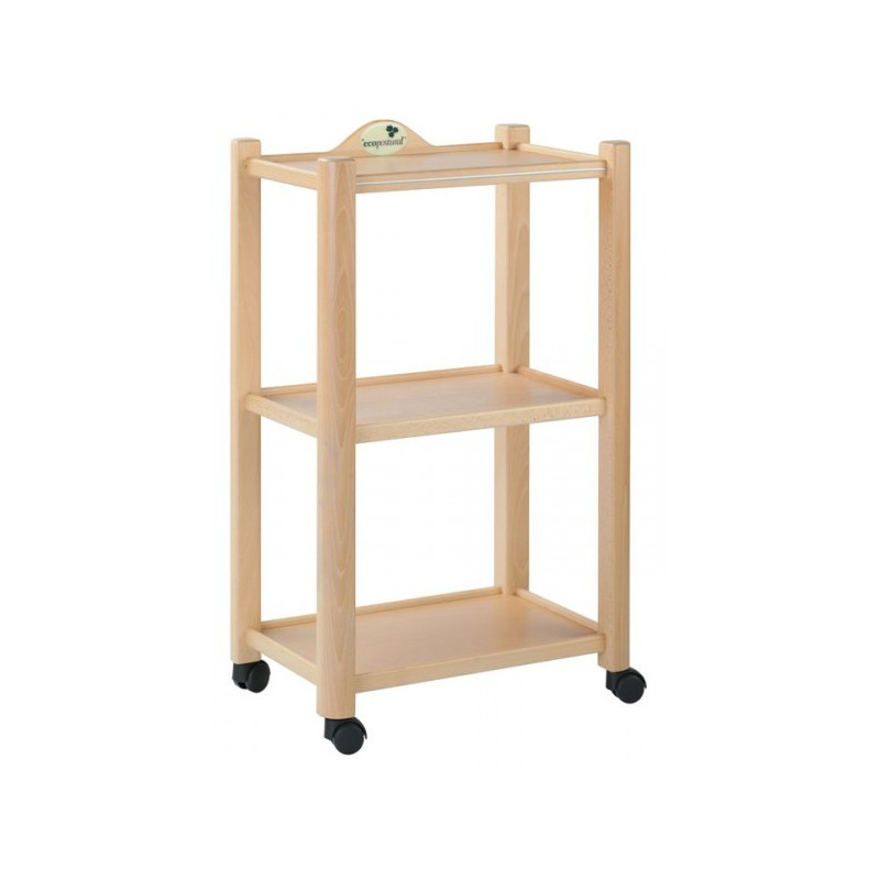 Mesa carrito de madera 3 alturas for Carrito bar de madera