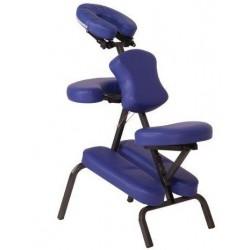 Silla metálica para terapias y masaje con accesorios y bolsa de transporte