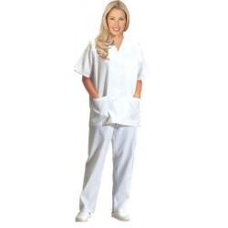 Pijama Blanco Cuello de Pico