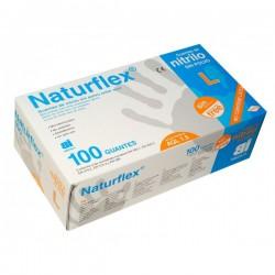 Guantes Nitrilo sin polvo NATURFLEX