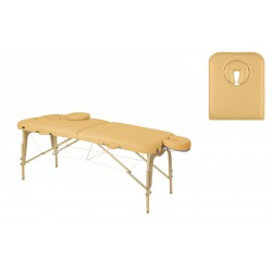 Camilla plegable regulable madera natural T14 70x186