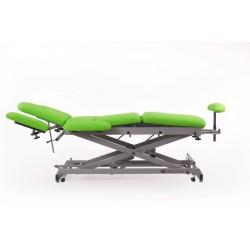 Camilla eléctrica multifuncional para osteopatía de 9 secciones con regulación de altura motorizada y ruedas escamoteables