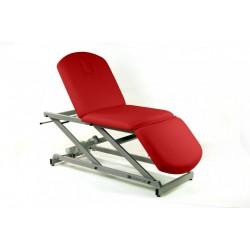 Camilla eléctrica de reconocimiento de 3 secciones tipo sillón con portarrollos y tapón facial.