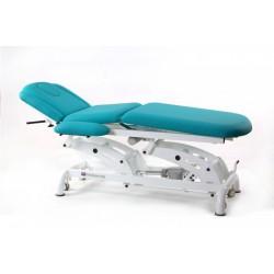 Camilla de osteopatía eléctrica multifuncional, con 3 motores y ruedas.