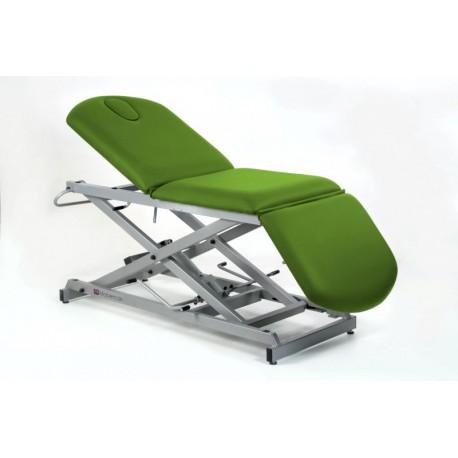 Camilla hidráulica tipo sillón de 3 secciones con subida vertical sin desplazamiento, tapón facial y portarrollos