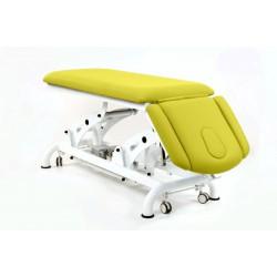 Camilla de osteopatía eléctrica de 4 secciones, respaldo abatible y ruedas.