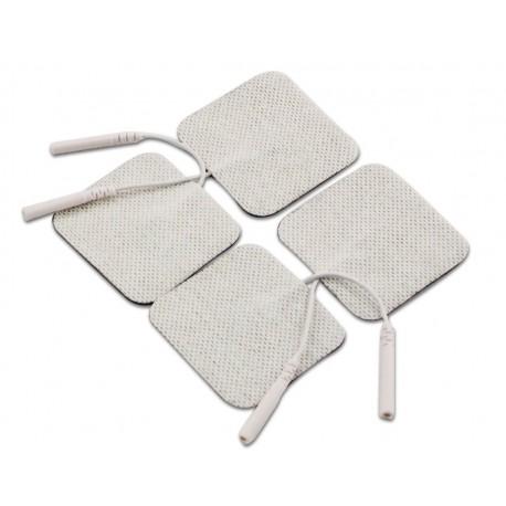 Pack de 4 Electrodos adhesivos gelificados para TENS y EMS. 50 x 50 mm
