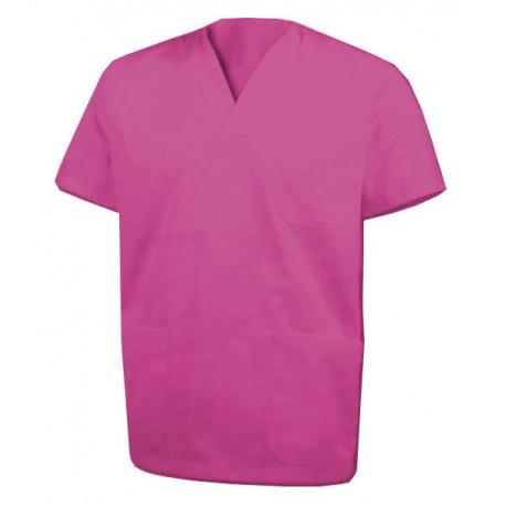 Chaqueta pijama color FUCSIA cuello pico