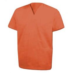 Chaqueta pijama color NARANJA cuello pico
