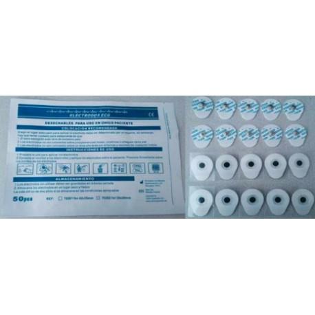 Electrodos ECG 35 x 42 mm Adulto (bolsa 50 uds)