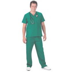 Pijama Verde Quirófano Cuello de Pico