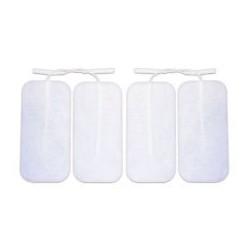 Pack de 4 Electrodos adhesivos gelificados para TENS y EMS. 90 x 50 mm