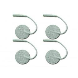 Pack de 4 Electrodos adhesivos gelificados para TENS y EMS. 32 mm diámetro