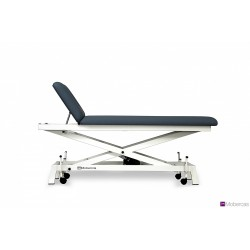 Camilla hidráulica para PEDIATRIA de 2 secciones, en tijera y con ruedas