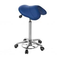Taburete pony silla de montar base aluminio con accionamiento de pie