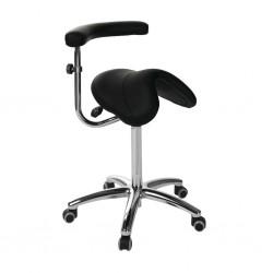 Taburete pony silla de montar base aluminio con brazo multifunción