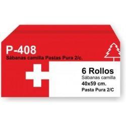 Papel camilla pasta 2 capas precorte a 40 cm.