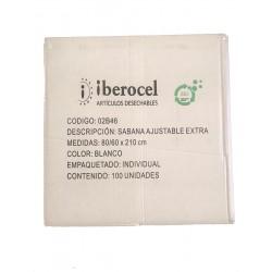 Sabanilla Ajustable EXTRA IBEROCEL Blanca Pequeña (10 unds.)