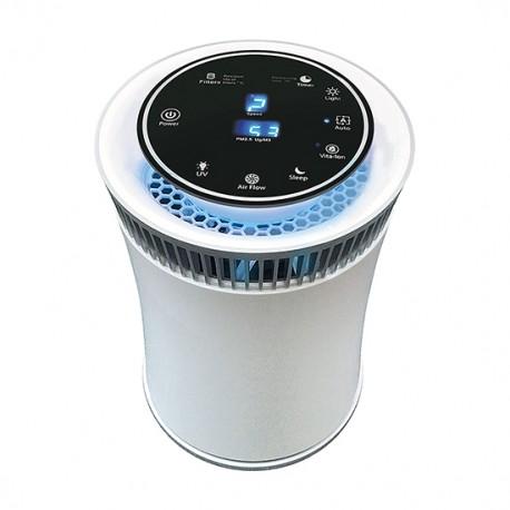 Purificador de Aire portátil con Luz Ultravioleta y filtro HEPA