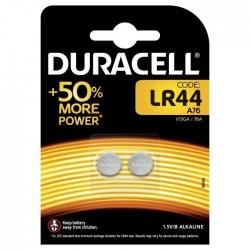 Pilas Duracell - 1,5V - Alcalina Botón (LR44 x 2 uds)