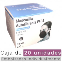 Mascarilla FFP2 - NR Color NEGRO