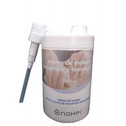 Crema de masaje con harpagofito y árnica NAKER 1L con dosificador