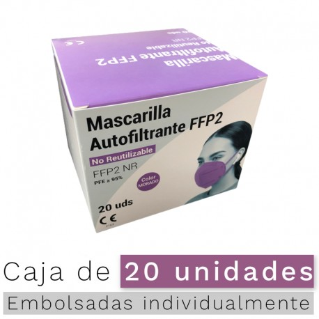 Mascarillas FFP2 NR- Color Morado