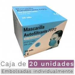 Mascarillas FFP2 NR- Color Azul claro