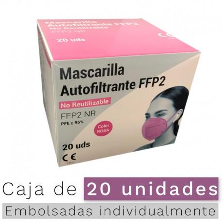 Mascarillas FFP2 NR- Color Rosa